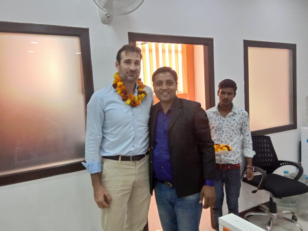 Omveer Singh with Mr. James McCoy