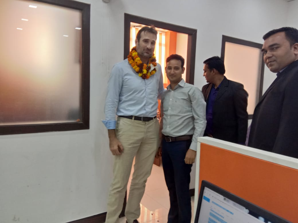 Anil Vishwakarma with Mr. James McCoy